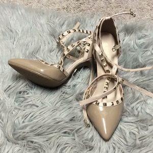 Never Worn studded heels